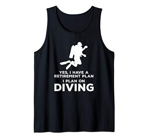 Funny Retirement Gift - Diving, Diver, Scuba Tank Top