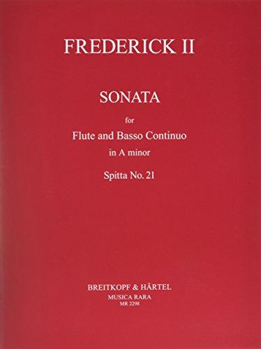 Sonate für Flöte und Basso Continuo a-moll, Spitta Nr. 21 (MR 2298)