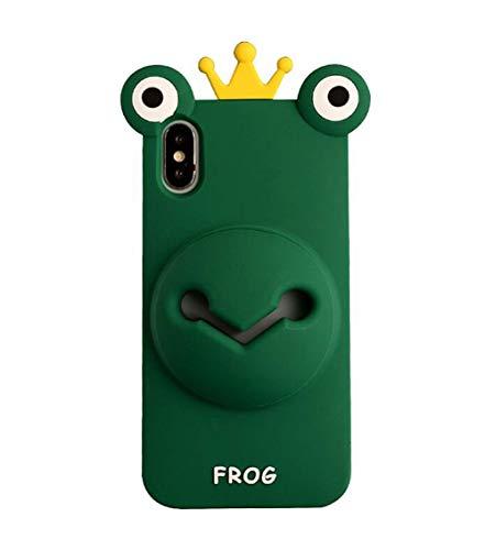 VooDirop 3D Cute Frosch Tier Amplify Hülle Kompatibel mit iPhone 6/6s Kreative Schöne Hülle Weiche Gummi Schutzhülle für Teens (Frosch, iPhone 6/6S)