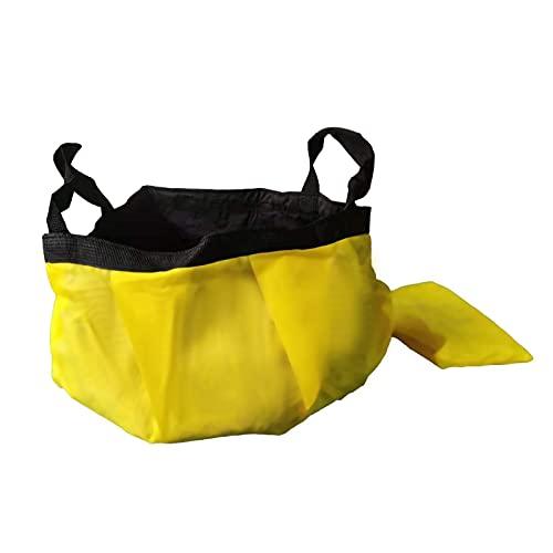 WANGQ Cubo Plegable 12L - Cubo Plegable, Portátil Portador De Agua Contenedor, Camping Pesca Fiesta Jardín | Se Puede Usar como Tazón De Lavado Plegable, Recipiente De Agua O Fregadero Plegable