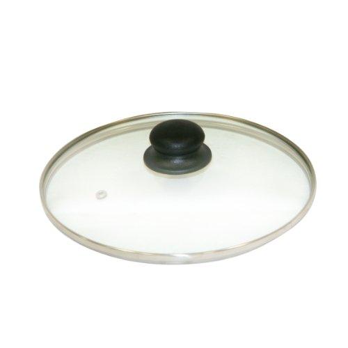 Axentia Glasdeckel, Glas, transparent, silberfarben, 28 cm