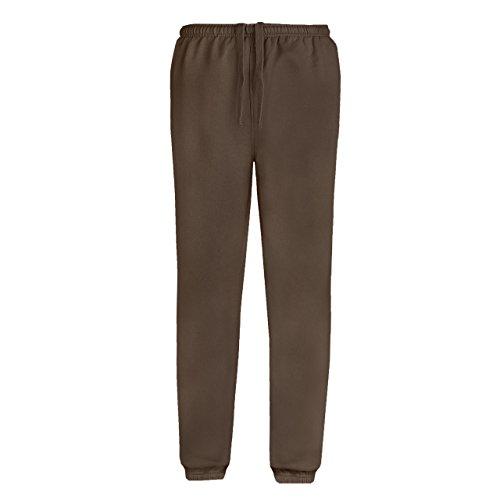 sumg Herren Jogginghose | Sweatpants | Sporthose mit Seitentaschen und elastischem Beinabschluss NEU (S, Schoko Braun)