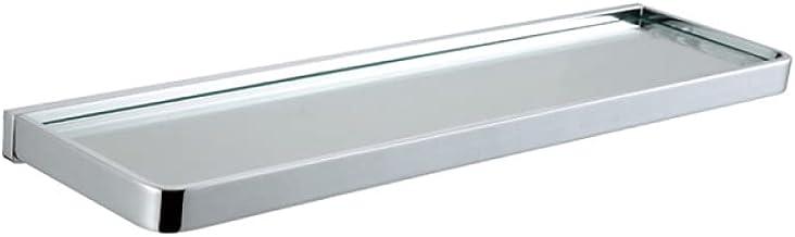 XFLQm Glazen hoekplank voor badkamer Alle koperen rek, gehard glazen frame, drijvende wandhouder voor douche organizer, wa...