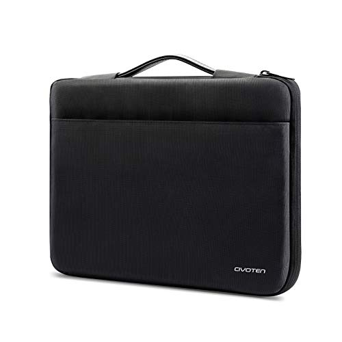 "Civoten 15-15.6 Inch Laptop Sleeve Chromebook Case 360° Protective Computer Carrying Bag for MacBook Pro 16 inch/Surface Book 2/ Dell XPS Lenovo Thinkpad 15.6""and Most 15.6""Notebook,Deep Black"