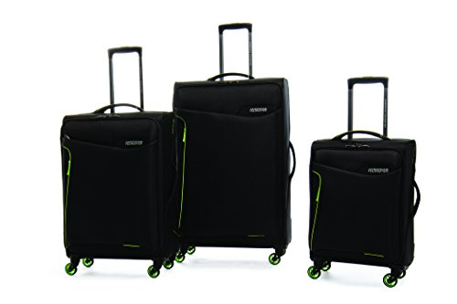 American Tourister 79554-2606 Whistler 3 Piece Nested Set, Black/ Lime, Checked -...