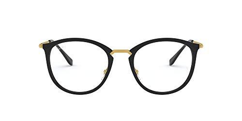 Ray-Ban 0RX7140, Monturas de Gafas Unisex Adulto, Negro (Shiny Black), 51