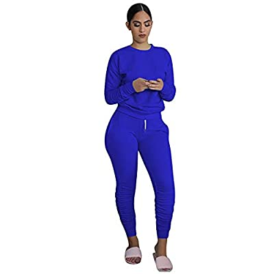 Amazon - Save 80%: Women Tracksuits Stretchy Long Sleeve Pullover Top Sweatpants Sport Sets