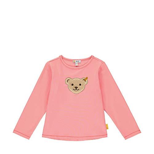 Steiff Mädchen mit Teddybärmotiv Langarmshirt, Rosa (Geranium Pink 2204), 92 (Herstellergröße: 092)