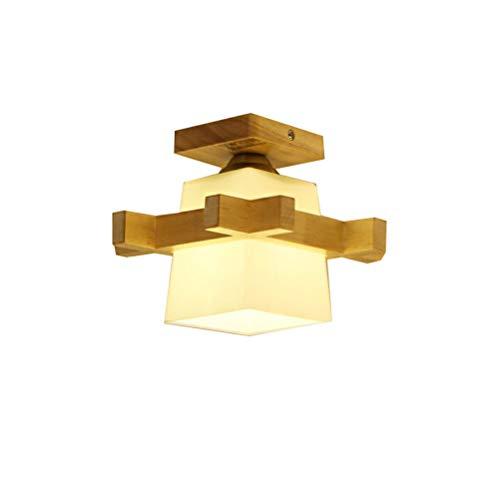 GQLB Lámpara de techo de madera sólida luz LED (230 * 230mm),3W Japonés