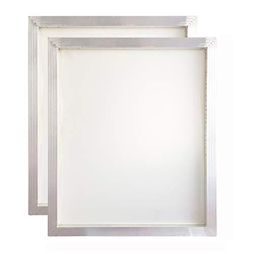 Serigrafía de aluminio de seda de 20 x 24 pulgadas, marco 160 de malla blanca, 2 PCS, 1
