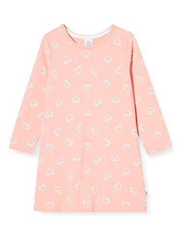 Sanetta Mädchen Sleepshirt Peach Bequem geschnittenes Nachthemd Rosa mit einem romantischen Herzchen-Alloverprint, 104