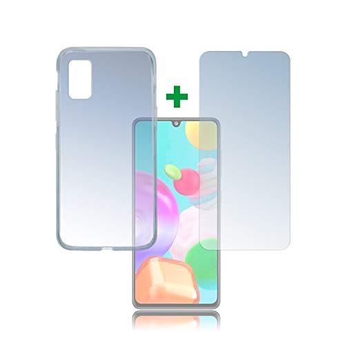 Preisvergleich Produktbild 4smarts 360° Protection Set für Samsung Galaxy A41 Hülle und Schutzfolie - Transparent