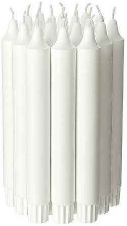 Velas IKEA JUBLA 20 unidades color blanco