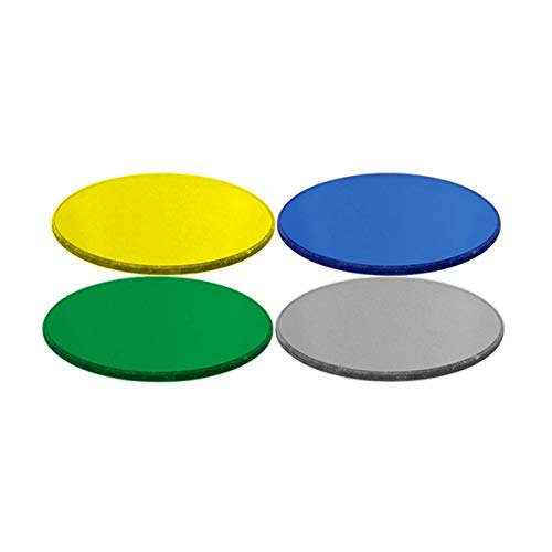 BoliOptics 45mm Color Filter Kit for Compound Microscopes (Blue, Green, Yellow, Matte White) FI02041001