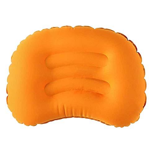 Beetest Ultra-léger Oreiller de Voyage Gonflable Ergonomique Compressible Ergonomique oreillers pour Le Camping randonnée Sac à Dos Orange