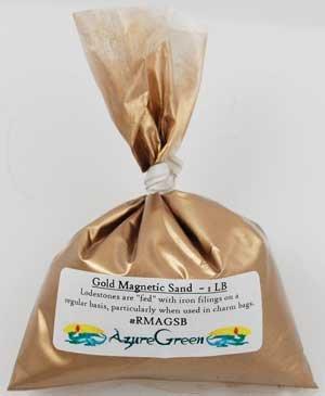 Azure Green RMAGSB 1 Lb Gold Magnetic Sand - Lodestone Food