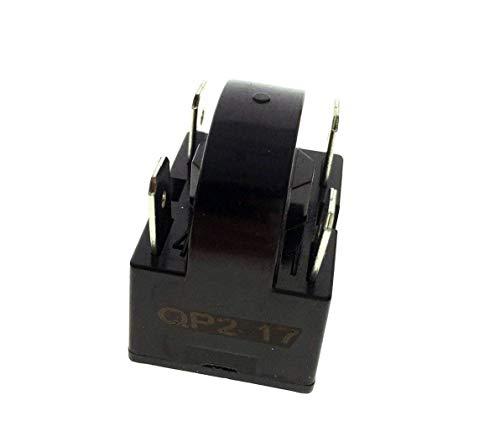 YXQ PTC Relay 17Ohm 4Pin Starter for Refrigerator Black Plastic Case (17ohm 4Pins)