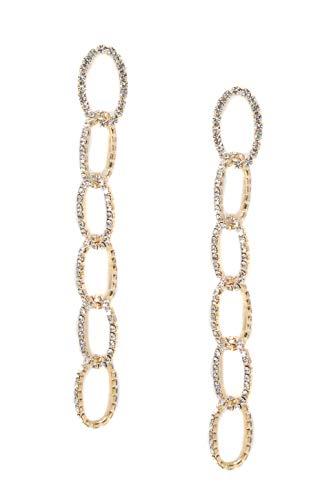 Ettika Women's Sparkle Chain Link Drop Earrings, Gold, One Size