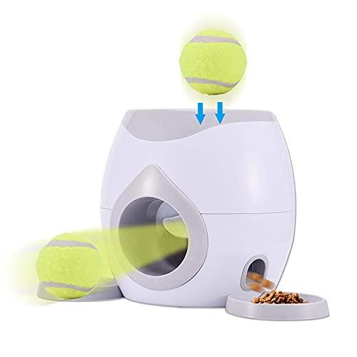 Alimentador automático de mascotas para buscar pelota de tenis, lanzador automático de pelotas, juguetes de entrenamiento para perros, máquina interactiva para lanzar pelotas