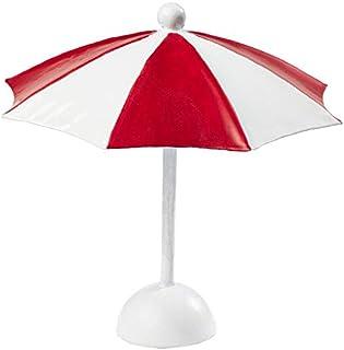 Parasoll röd/vit 10 x 10 cm.