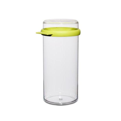 Rosti Mepal 106714091200 - Fiambrera Transparente cilíndrica (1660 ml), Tapa de Color Verde