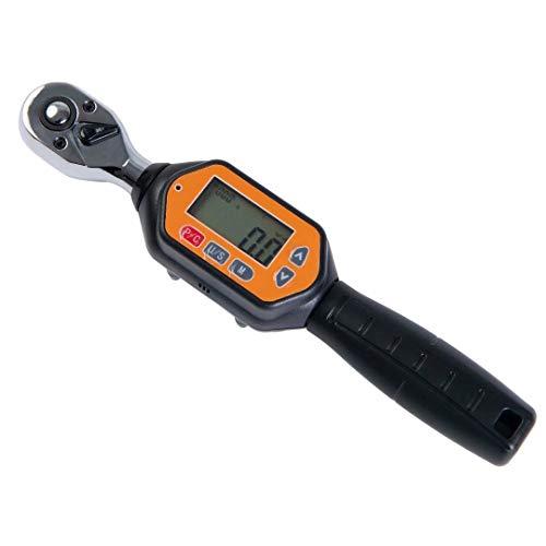 """Beslands -3/8"""" Llave dinamométrica Digital, Llave de Torque 1.8-60Nm, Precisión ± 2%, Adaptador para Bicicleta de Carretera y Montaña, Moto"""