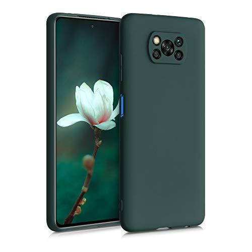 kwmobile Carcasa Compatible con Xiaomi Poco X3 NFC/Poco X3 Pro - Funda móvil de Silicona - Protector de TPU en Verde Musgo