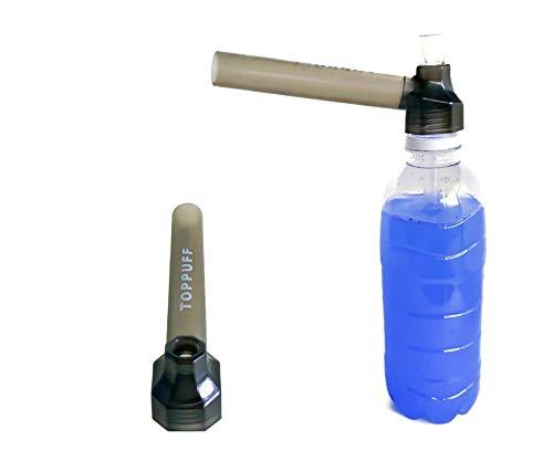 【喫煙具専門けむり屋】 水パイプ ボング 作成キット ペットボトル を パイプ にできる ガラスパイプ と マウスピース (ブラック)
