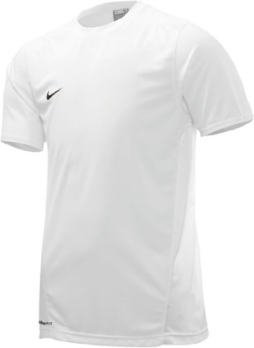 NIKE Park IV - Camiseta de Deporte Infantil, tamaño S, Color Blanco/Negro
