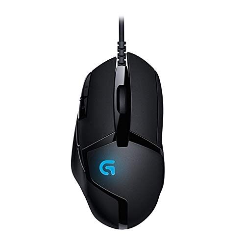 Logitech - Mouse Gaming G402 Hyperion Fury USB 4000 dpi 500 IPS, colore: Nero