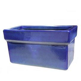98619740 Pot « menestho Azur » rectangulaire en grès en bleu