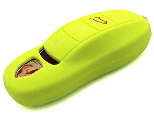 Finest-Folia Coque de Protection en Silicone pour clé de Voiture 3 Boutons Vert Lime