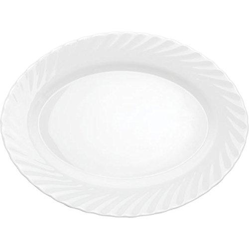 ARCOROC d6877 Trianon blanc plaque, plat, ovale (Lot de 4)
