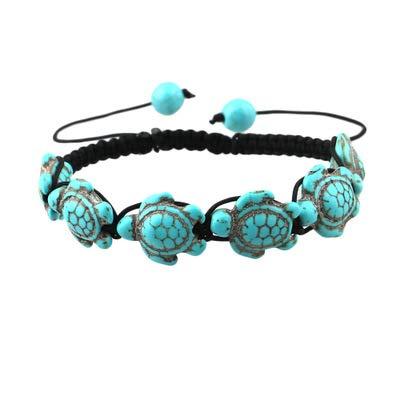 BIGBOBA Böhmen Damen Kette Schildkröte Armreifen Türkis Armband Frauen Armbänder Schmucksache Geschenk