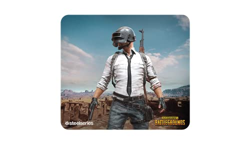 SteelSeries QcK+, Gaming Mouse Pad - 450mm x 400mm x 4mm - Cloth - Rubber Base - PUBG Miramar
