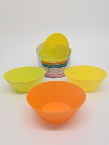 Giannini 24806 Extragourmet Lot de 12 pcs Silicone Cupcakes-assorted Couleurs, Multicolore