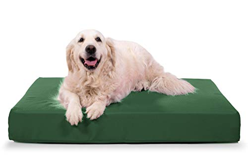 K9 Ballistics Tough Orthopedic Dog Bed Large Nearly Indestructible & Chew Proof, Washable Ortho Pillow for Chewing Puppy - for Large Dogs 40'x34', Green
