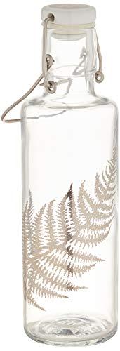 Soulbottle fles, glas, zilverkleurig, 0,6 liter