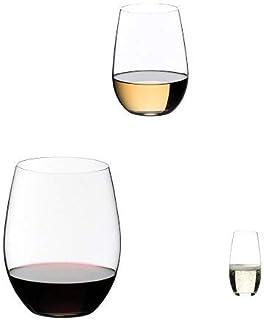 【セット買い】リーデル (RIEDEL) リーデル・オー レッドワイン600ml 2個 + ホワイトワイン 375ml 2個 x シャンパーニュ264ml 2個