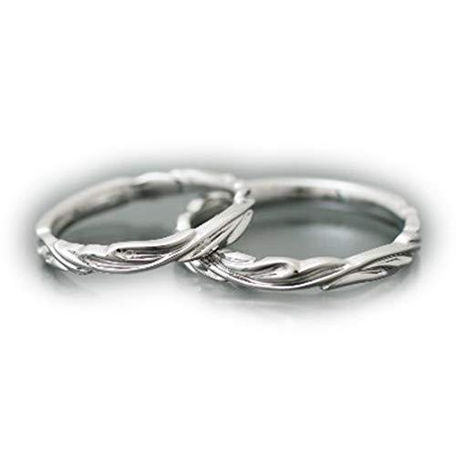 [ココカル]cococaru ペアリング 2本セット K18 ホワイトゴールド 結婚指輪 日本製 (レディースサイズ14号 メンズサイズ15号)