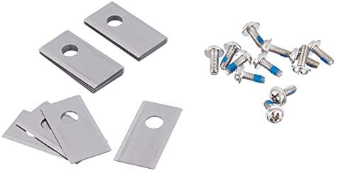 WORX - Lot de 12 lames de rechange d'origine - WA0190 - Pour tondeuses robots WORX LANDROID (livrées avec 12 vis de fixation)