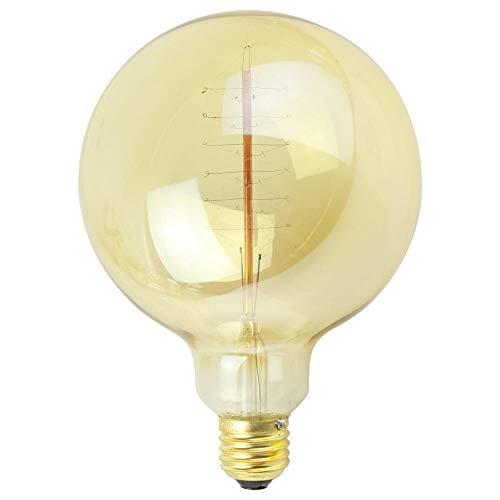 Lumen Leuchtmitteledison-Birne G125 Gewundene Braune Goldantike Lampen-Kugel-Luftblasen-Drache-Kugel-Luftblasen-Dekorative Lichtquelle 220V 40W