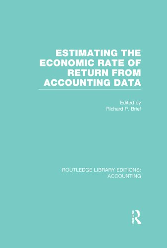 Estimating the Economic Rate of Return From Accounting Data (RLE Accounting) (Routledge Library Editions: Accounting) (English Edition)