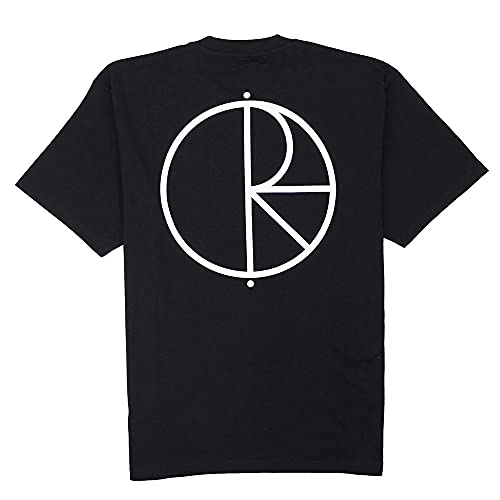 Polar Skate Co. T-Shirt Stroke Logo Tee Black Original, Schwarz XL