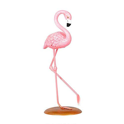 Nargut Cute Resin Pink Flamingo Ornament Tabletop Decoration Living Room Decoration Cake Decor