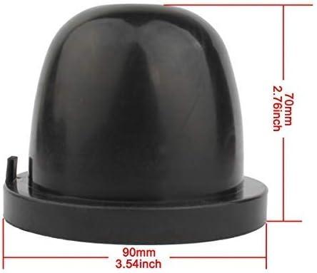 Tomall 83mm Staubschutz Für Led Scheinwerfer Ersatz Gummidichtung Caps Kit Auto
