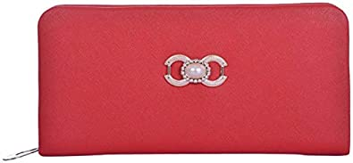 AWESOME FASHIONS Red Synthetic Women's Wallet (AF057)