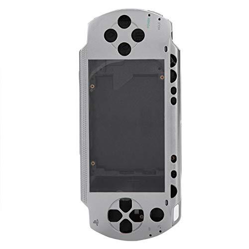 PSP1000 Game Shell, todos os soquetes reservados EasyTo Change PSP 1000 Replacement Shell, design de aparência é novo para Game Shell Periféricos de jogo(Silver)