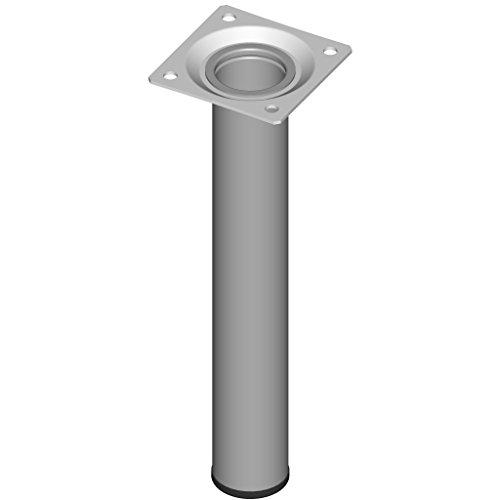 Element System 11100-00022 Pie para muebles, aluminio gris, 20 cm