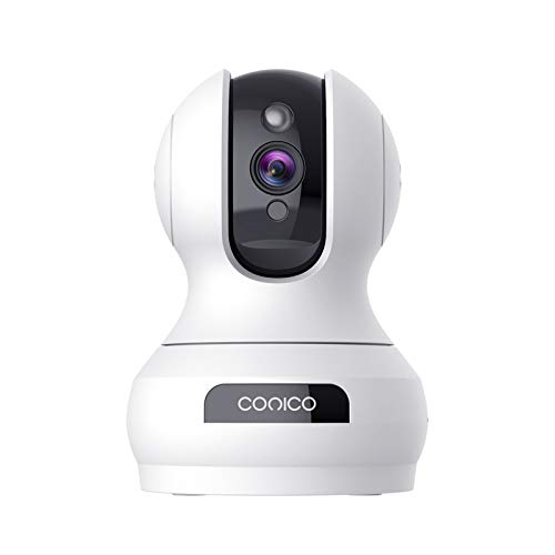 Indoor Camera,Conico 1080P Pan/Tilt Baby Monitor with Camera and Audio,Pet Camera with Motion Detection,Two-Way Audio,Night Vision,Cloud and Local Storage,WiFi Camera Works with Alexa for Home